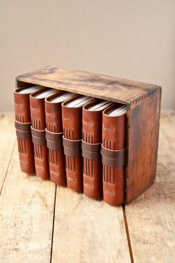 Handmade Rustic Leather Journals Matching Set