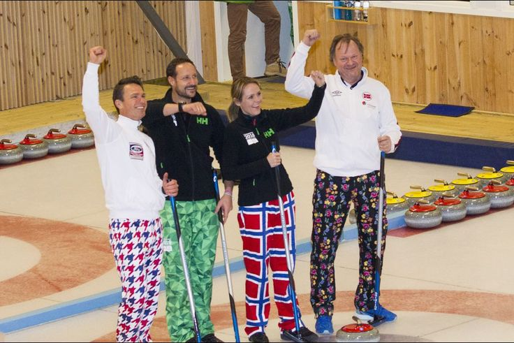 Le prince Haakon de Norvège aux JOJ à Lillehammer, le 12 février 2016