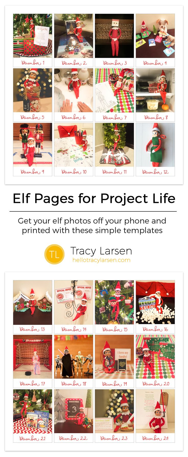 How to scrapbook with project life - Elf Magic Elf On The Shelf Ideas How To Document Your Elf With Project Life