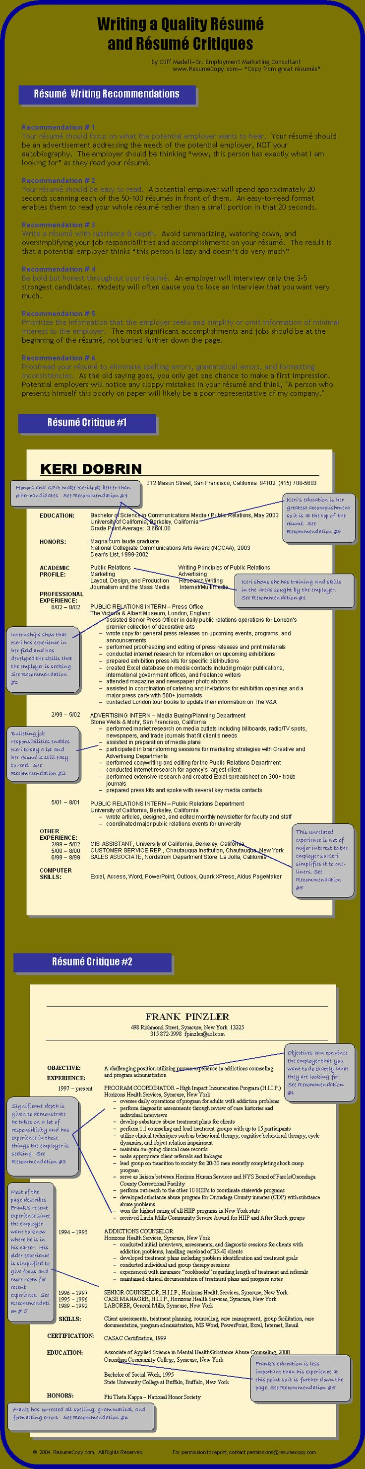 Find A Job Canada   Resume Writing Tips