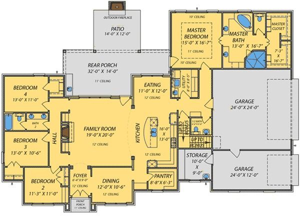 1186 best house plans images on pinterest cottage for Acadian house plans with bonus room