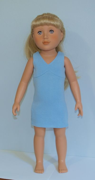 $10 blue cotton jersey short dress - only 1 left - very nice and HTF