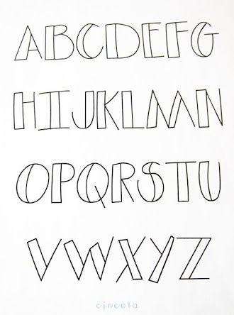 Image Result For Letras Bonitas Para Decorar Cuadernos Abecedario