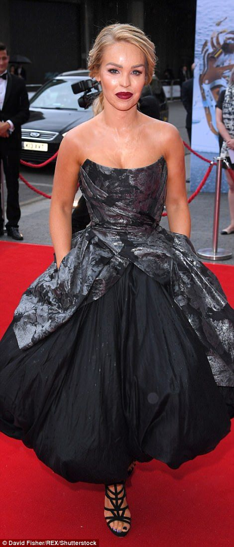 Gothic glamour: Katie Piper dared to be different in a voluminous prom dress with jacquard floral detailing
