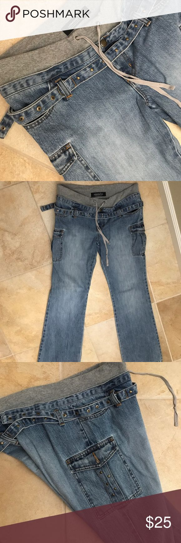 Jeans London Jeans, Premium Qualify Denim, tall, size 10, 95% cotton, 5% spandex, made in China Jeans Straight Leg