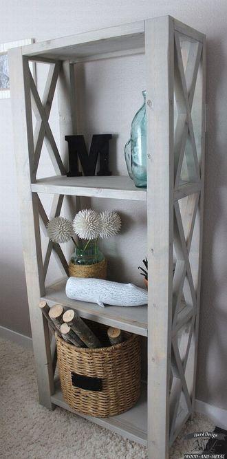 Белый деревянный стеллаж в стиле Прованс по Вашим размерам на заказ в Москве