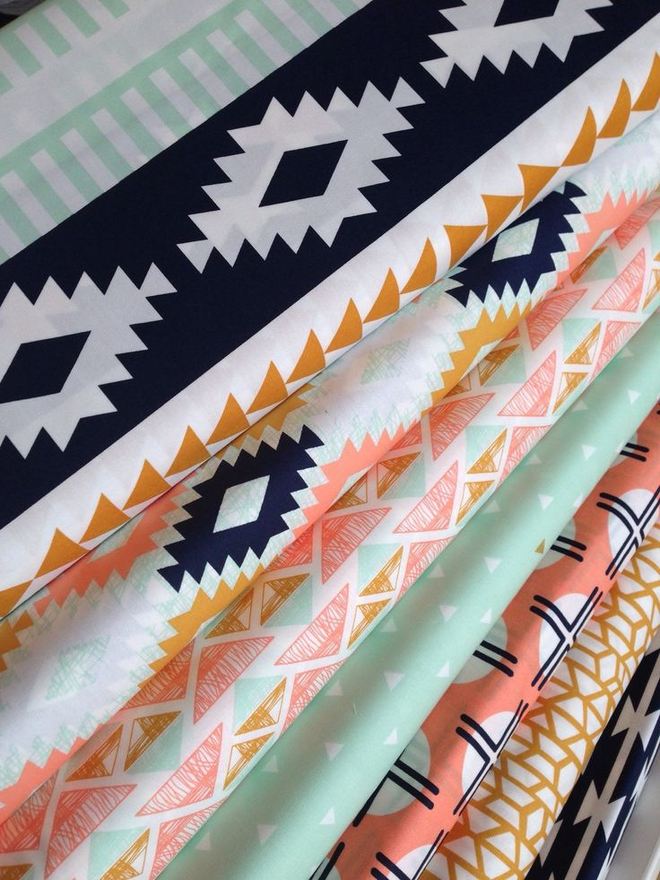 Boho fabric, Rustic Baby Quilt fabric, Aztec Baby Quilt Fabric, Aztec Baby bedding, Arizona Fabric, Art Gallery Fabric- Fabric Bundle of 7