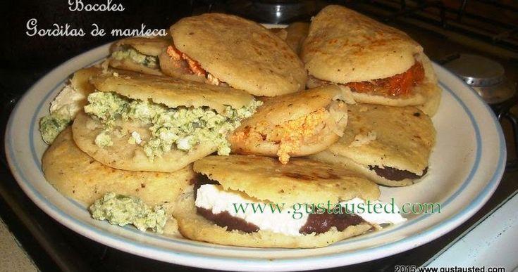 Bocoles tradicionales de la Huasteca con manteca de res o de cerdo, almuerzo típico del estado de Tamaulipas. Gorditas de manteca.