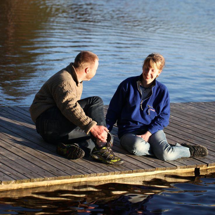 """Swimming lake at Hiking path """"Gråstensmon"""", Målerås. Långegöl, badplats vid vandringsleden """"Gråstensmon"""" i Målerås."""