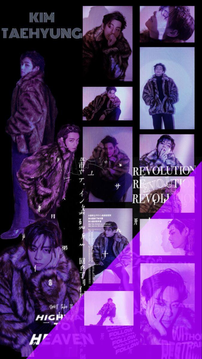 Bts dark purple wallpaper