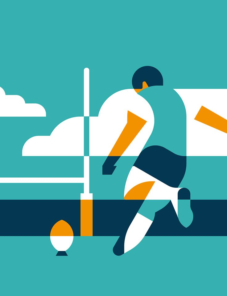 Sports Illustration by Timo Meyer #illu #illustration #sports #geometric #football