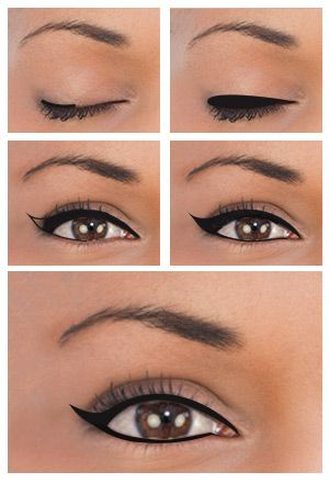 How To Apply Winged Eyeliner For Diffe Eye Shapes Makeup Tutorials