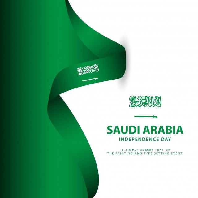 Saudi Arabia Independence Day Flag Vector Template Design Illustration Saudi National Day Saudi Arabia National Day Saudi National Day Flag Icons Template Ico Flag Vector Romantic Background Flag Icon