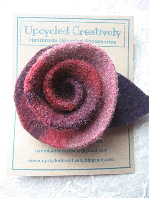 Upcycled felt rose tutorial. - Upcycled Creatively