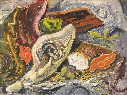 Artist: Arthur Lismer, Title: BEACH TEXTURE - 12 x 16 oil on board (1959)