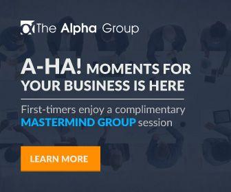 Google Display Ads sets design for Alpha Group Singapore.