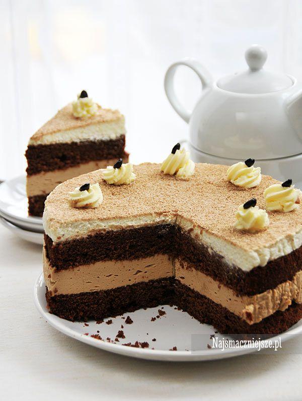 Czekoladowe ciasto Cappuccino #ciasto #cake #Cappuccino #food #czekolada