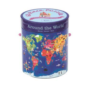 63 Piece Around the World - Bobangles #Mudpuppy #kids #world #map #puzzle #educational