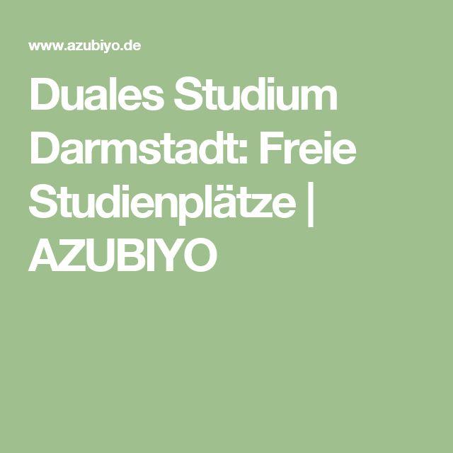 Duales Studium Darmstadt: Freie Studienplätze | AZUBIYO