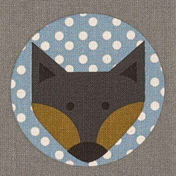 Baumwolle m/Muster Grau