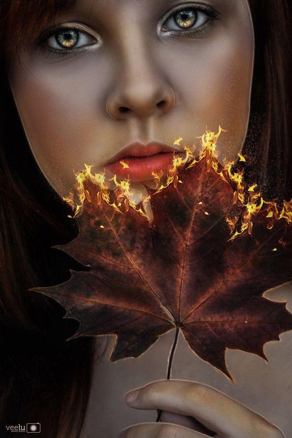 in flames by veelu21 - Digital Art by Vera Lucia  <3 <3