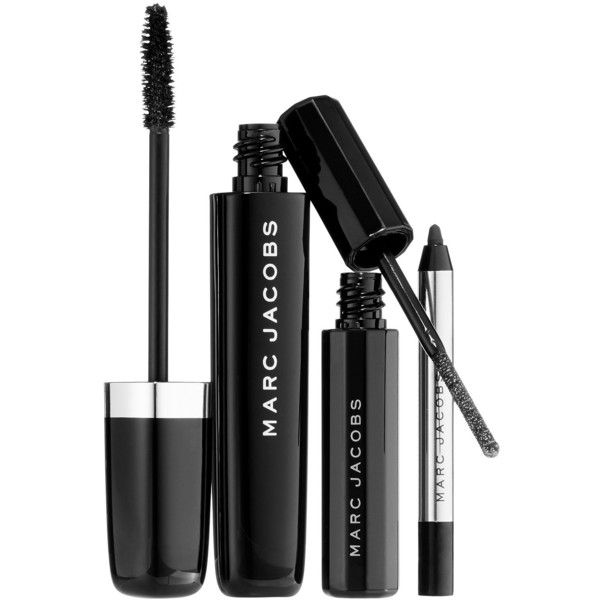 Marc Jacobs Beauty About Lash Night 3-Piece Mascara And Eyeliner... found on Polyvore featuring beauty products, makeup, eye makeup, marc jacobs makeup, marc jacobs and marc jacobs cosmetics