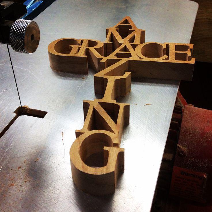 Work in progress. Cherry cross cut on my scroll saw.