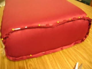 reupholster a couch cushion - how to... I am POSITIVE this will come in handy some day! :)