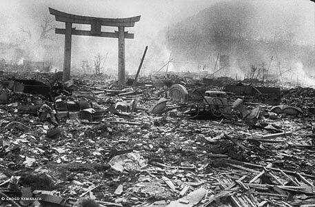 The result of atomic bomb in Heroshima