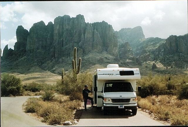Superstition Mountain, the Lost Dutchman campground.Superstition Mountain