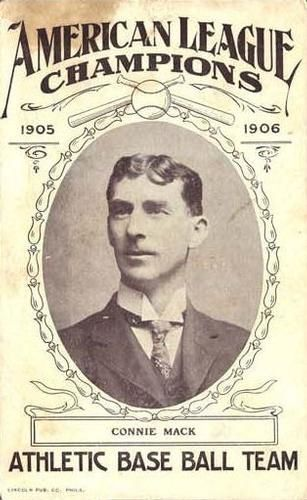 1905-06 Lincoln Publishing Am. League Champs #12 Connie Mack Front