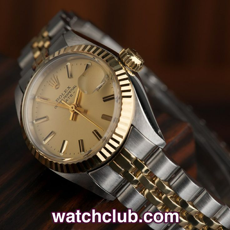 Rolex Datejust Vintage - Steel & Gold REF: 6917 | Year 1979  Look again at the photos - this vintage Rolex Lady Date really is that good! The curved lugs and 18ct fluted bezel are supremely crisp, showing no signs of wear whilst the crisp jubilee is absolutely in 'box fresh' condition! An absolute classic that you don't often see in such fine shape, this automatic Oyster Perpertual Date also sports a classic champagne dial and warm Plexiglas crystal.