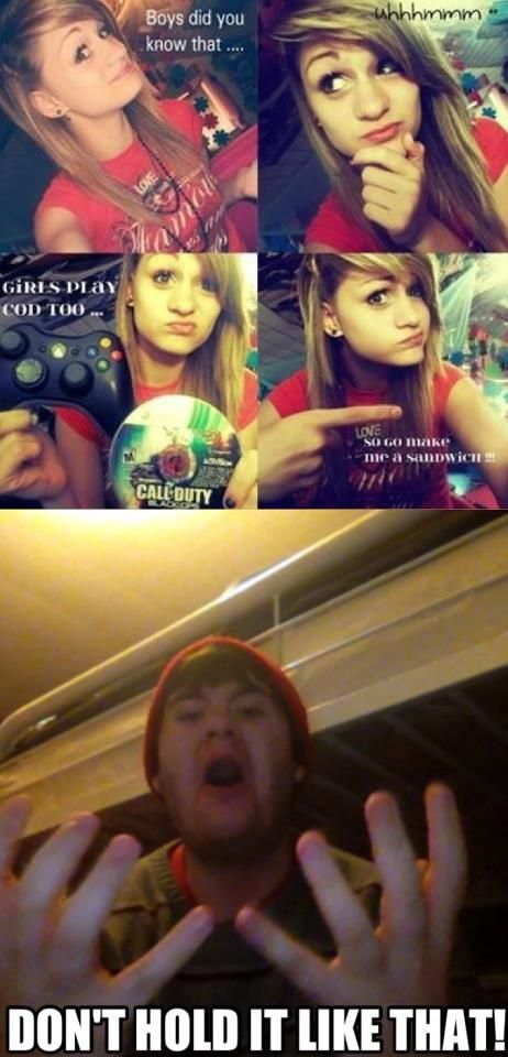 The moment that separates the true gamers from the girls that think it's cute!