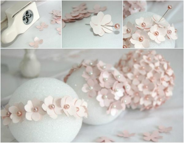 DIY - TUTORIAL enfeites redondos. Stephanie these could be neat to include in your center pieces. I will make them!