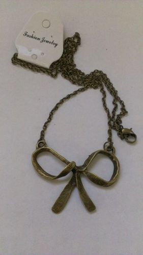 $5.80 #vintage bow necklace