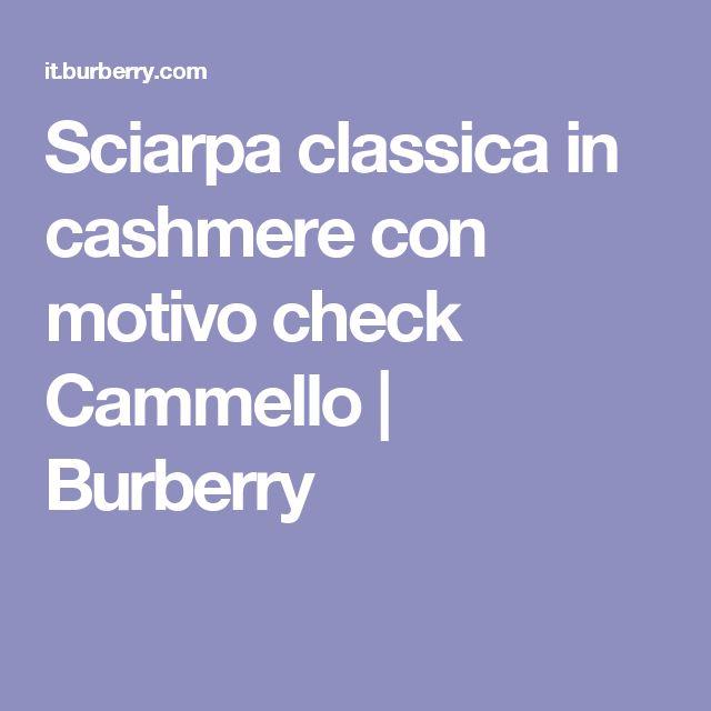 Sciarpa classica in cashmere con motivo check Cammello | Burberry
