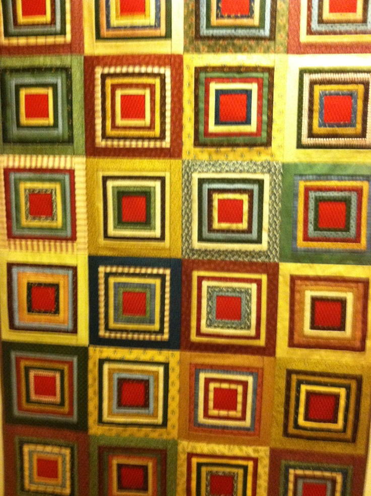 Pleated Log Cabin Quilt My Style Pinterest Cabin