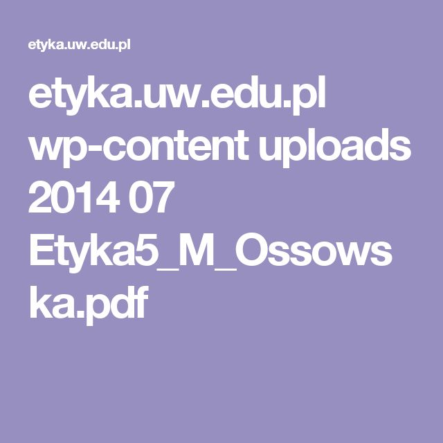 etyka.uw.edu.pl wp-content uploads 2014 07 Etyka5_M_Ossowska.pdf