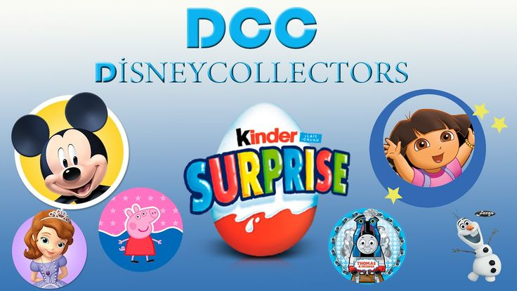 https://www.youtube.com/watch?v=lUbKRNXUD2c  40 Kinder Surprise Eggs!! Kinder Surprise Dora the Explorer Peppa Pig Mickey Mouse clubhouse