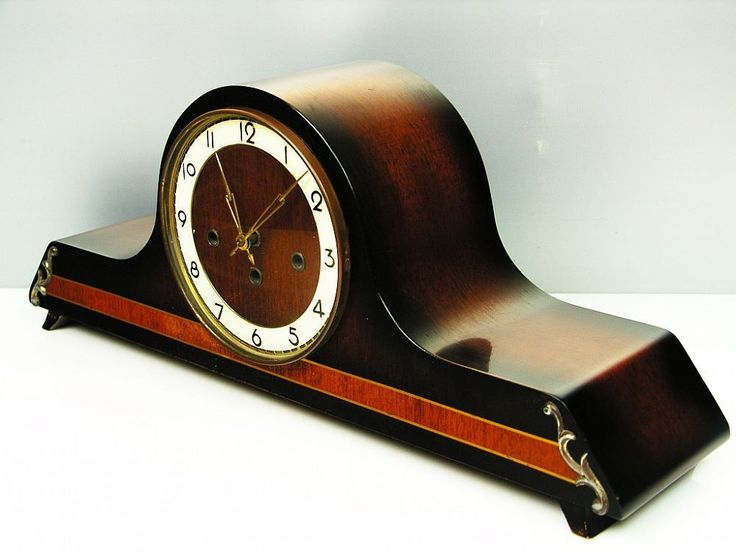 BEAUTIFUL ART DECO BELCANTO WESTMINSTER CHIMING MANTEL CLOCK WITH PENDULUM