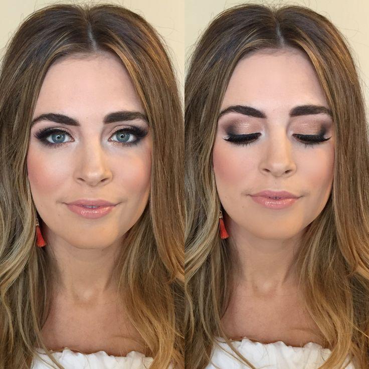 How to create a smokey eye.  Bronze Smokey Eye, Smokey Eye, Bridal Makeup, Everyday Makeup, Nude Lip