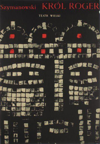 """Waldemar Świerzy, """"Król Roger"""", 1965, źródło: Galeria Plakatu BUW"""