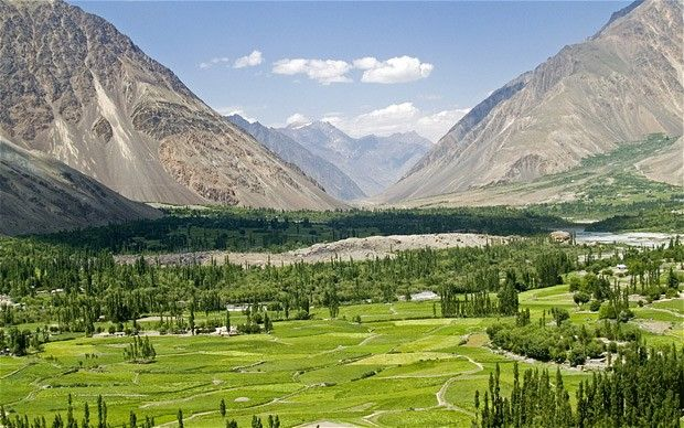 The beautiful Shandoor valley of Pakistan.