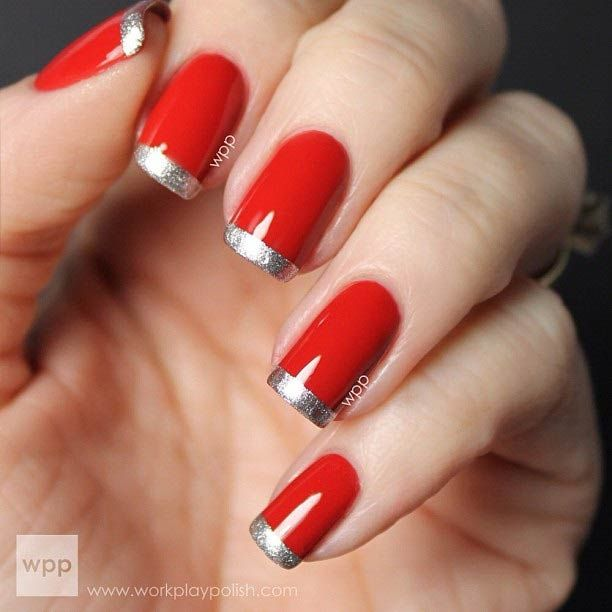 31 cool french tip nail designs red black nails red