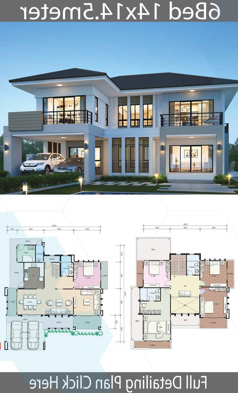 House Design Plan 14x14 5m With 6 Bedrooms Home Design With Plansearch Beautiful House Plans House Layout Plans Duplex House Design
