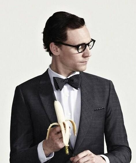 Tom Hiddleston with glasses, a bow tie, and a banana. Your argument is invalid.