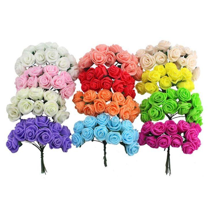 1.5-2 см с Одной Головкой Многоцветный Чп Роуз Пена Букет Чп Цветок/Скрапбукинг Искусственный Розы DIY Цветок (144 шт./лот)