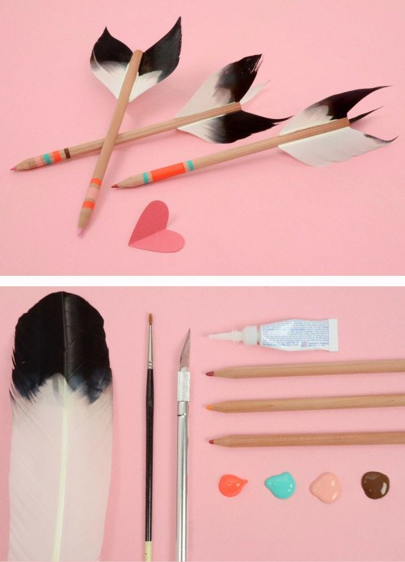 amazing arrow pencil tutorial from Cherry Plum blog.