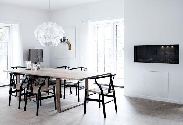 Grey wash, dark chairs
