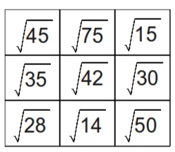 Surds-simplifying and multiplying square roots activity
